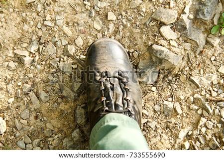 Dusty tourist boot #733555690