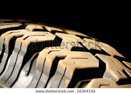 Dusty Tyre Tread - stock photo