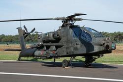 Dutch attack helicopter at Kleine Brogel Air Base in Belgium