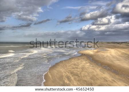 Dutch coast at Scheveningen
