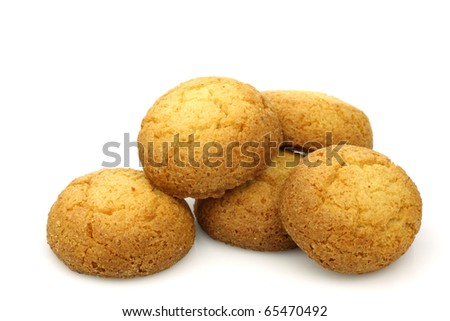 "Dutch cookies called ""bitterkoekjes"" on a white background"