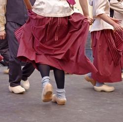 dutch dancers in festival in summer