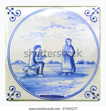dutch delft blue tiles,