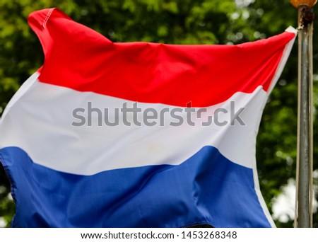 Dutch Flag Fluttering in the Wind, South Korea #1453268348