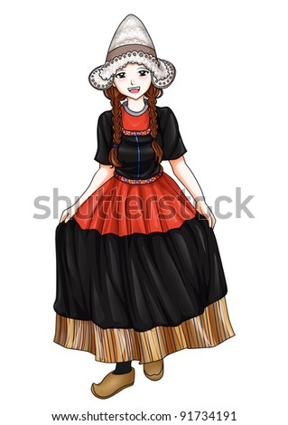 National Costume Netherlands http://www.shutterstock.com/pic-91734191/stock-photo-dutch-girl-in-traditional-costume.html
