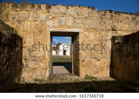 Dutch historical 17th century fort near the shoreline on the beach