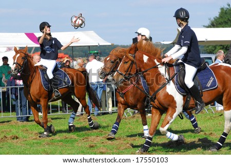 Dutch horseball team in action at the farmers day event September 14th, 2008 in Woensdrecht, Netherlands