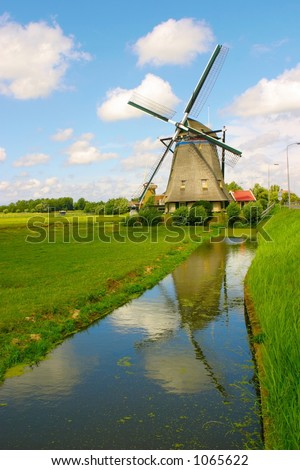 Dutch landscape-windmill