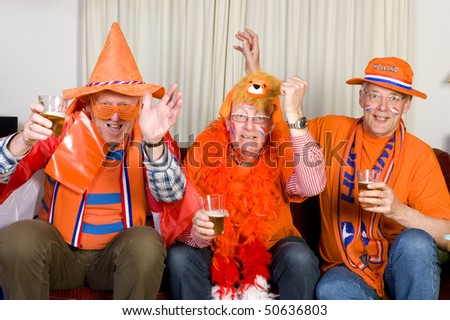 Dutch soccer fans are looking to the television