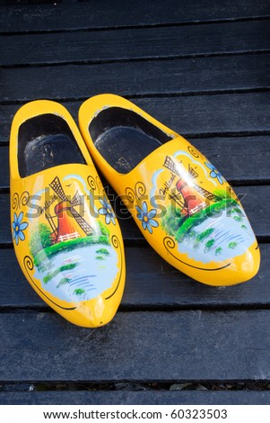 Dutch traditional wooden shoes