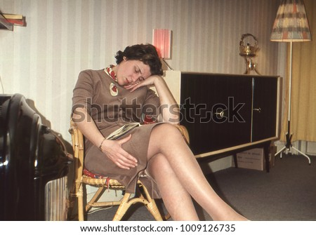 dutch vintage 1958 woman with...