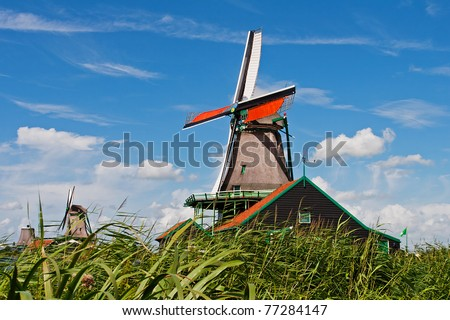 Dutch windmill in Zaanse Schans