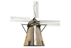 Dutch windmill isolated