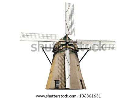 Dutch windmill isolated Stock photo ©