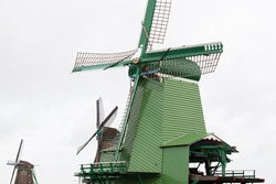Dutch wooden saw mill in Zaandam
