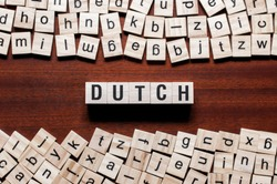 Dutch word concept on cubes