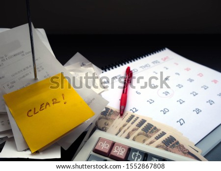 Duty to clear, manage or pay for expenses, it's important of account and finance department of company. By collected receipts, document or slip in order to complete record on time for correct payment #1552867808