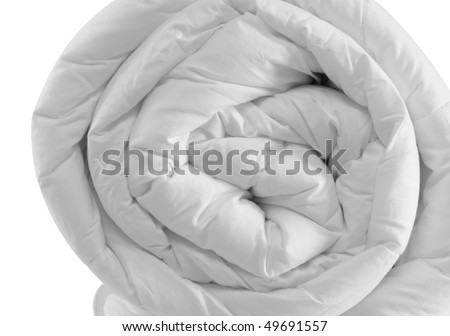 Duvet roll. Isolated
