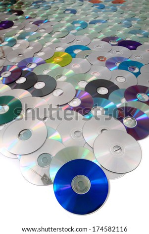 DVD and CD data disc as nice background