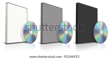 DVD and DVD Case on white