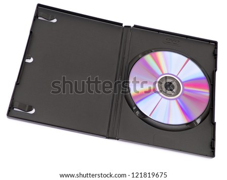 DVD case isolated on white background