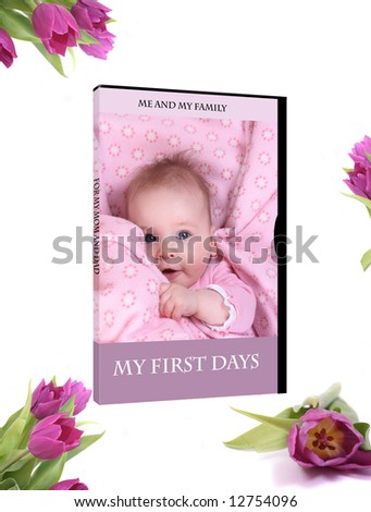 DVD cover with newborn