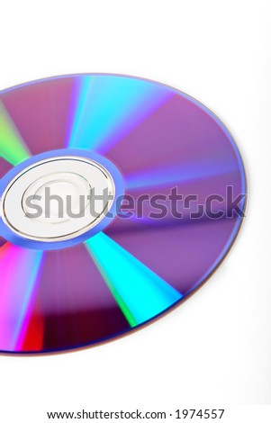 DVD disc detail on white background