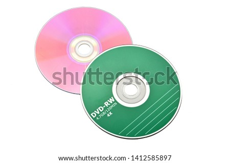 DVD discs on an isolated white background