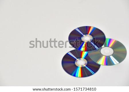 DVD discs on the desk