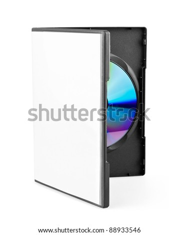 DVD disk on white background