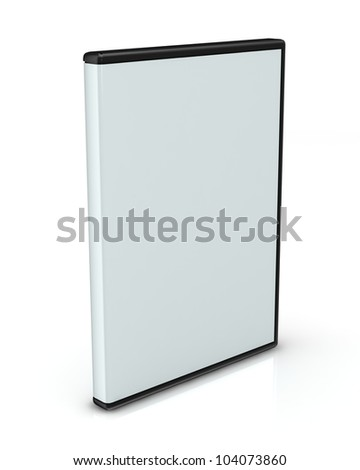 DVD or CD case isolated on white