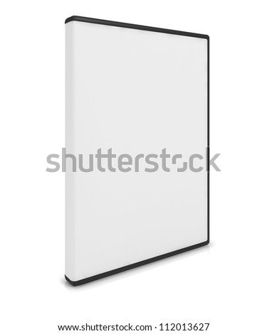 DVD or CD case isolated on white with a clipping path #112013627