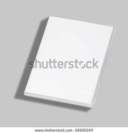 DVD or CD case isolated on white with a clipping path