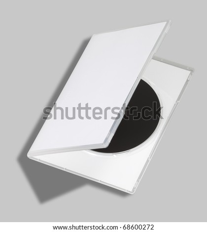 DVD or CD case open on white with a clipping path