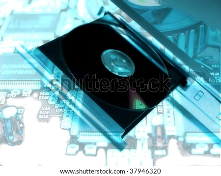 dvd player technology abstract design - stock photo