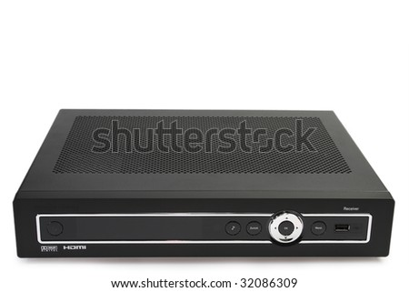 Dvd recorder isolated on a white background.
