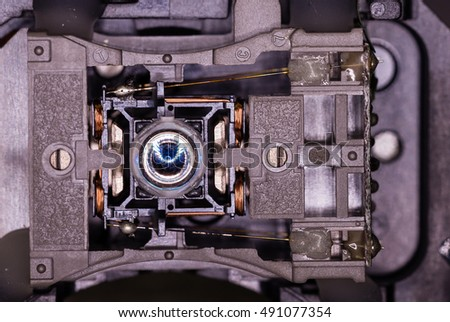 Dvd recorder lens of a computer #491077354