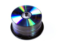 dvd's on a white background