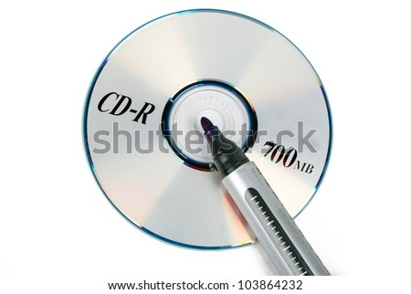 DVD with marking pen