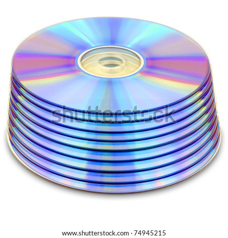 dvds isolated on white