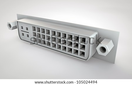 dvi connector isolated on white background