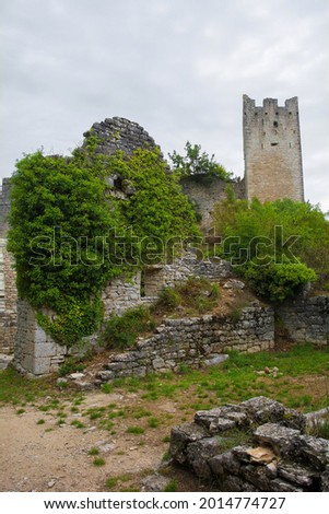 Dvigrad, an abandoned medieval town in central Istria, Croatia, which was inhabited until the eighteenth century Сток-фото ©