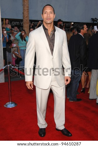 "Dwayne ""The Rock"" Johnson at the world premiere of his new movie ""The Game Plan"" at the El Capitan Theatre, Hollywood. September 23, 2007  Los Angeles, CA Picture: Paul Smith / Featureflash"