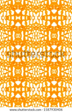 Dye Bohemian. Smudge Pattern. Watercolor Smear. White,Gold,Orange Psychedelic Colors Wallpaper. Craft Ethnic Adornment. Ethnic Ornament. Trendy Style. Fun Dye Bohemian.