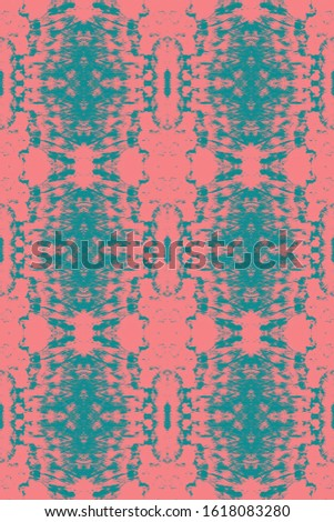 Dye Bohemian. Watercolor Shade. Shibori Pattern. Psychedelic Colors Wallpaper. Modern Colorful Vogue Template. Bright Urban Illustration. Teal,Pink Aged Dye Bohemian.