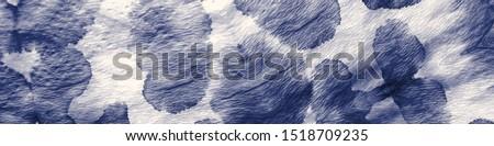 Dye Effect. Retro Mixed Pattern. Watercolor Artwork. Cute Hippie Dirty Art. Ethnic Shibori Backdrop. Boho Abstract Painting. Indigo, White Dye Effect.