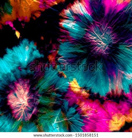 Dye Shirt. Rainbow Hypno Spiral. Psychedelic Tie Dye Texture. Hippy Vintage. Bright Shibori. Psychedelic Swirl. Cosmos Tie. Hippie Color.