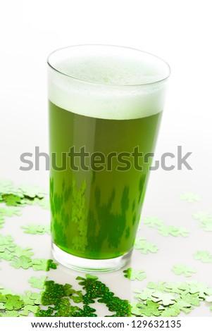 Dyed Green Beer for St. Patricks Day Celebration