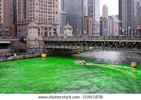 Dyeing the Chicago River Green on Saint Patrick's Day