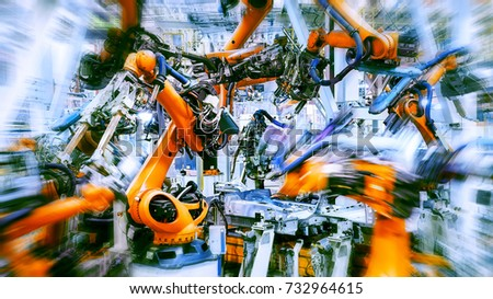 Dynamic car manufacturing production arm